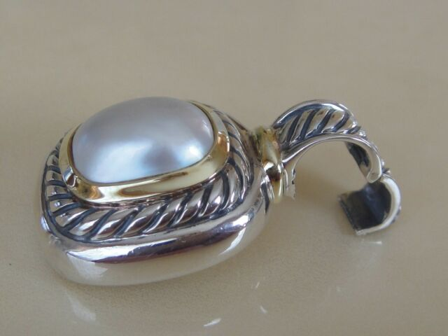 DAVID YURMAN 14K GOLD, SS ALBION MOBE PEARL ENHANCER