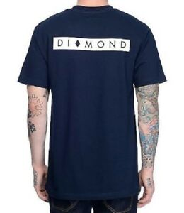 56ce2e81cd9a DIAMOND SUPPLY CO. MARQUISE TEE T SHIRT NAVY BLUE WHITE MENS SZ ...