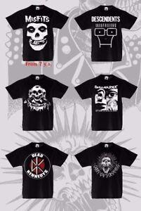 Kids-T-shirt-Punk-Rock-De-Tous-Ages-3-to13-ans-unisexe-Cranes-decharge-Alternative