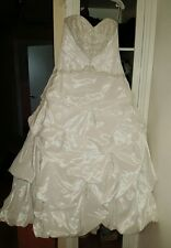 Gorgeous White Wedding Dress from David's Bridal - Size 14W Style # 9T9670