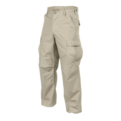 HELIKON TEX US Bdu Cargo Cotton Ripstop Robuste PANTALON Outdoor Army Trousers Kaki Beige