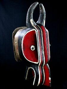 Arte Africano Primo - Antico & Autentica Maschera Baule Goli Glin - 66 CMS