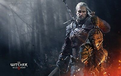 Poster 42x24 cm The Witcher 3 Wild Hunt Geralt De Rivia Videojuego Videogame 11