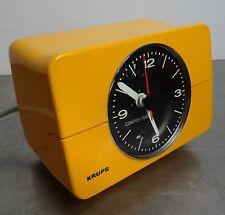 vintage clock 70's - Elektromechanischer Wecker Krups 672 comfortime Uhr 70er