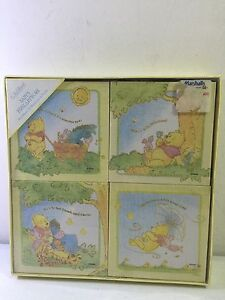 C-R-GIBSON-Babys-First-ArtWork-Four-Ready-TO-Hang-DISNEY-POOH-CANVAS-ART-SET