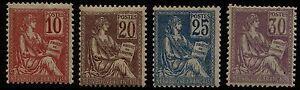 Francia-1900-1901-Allegorie-Unificato-nn-112-115-nuovi-MNH