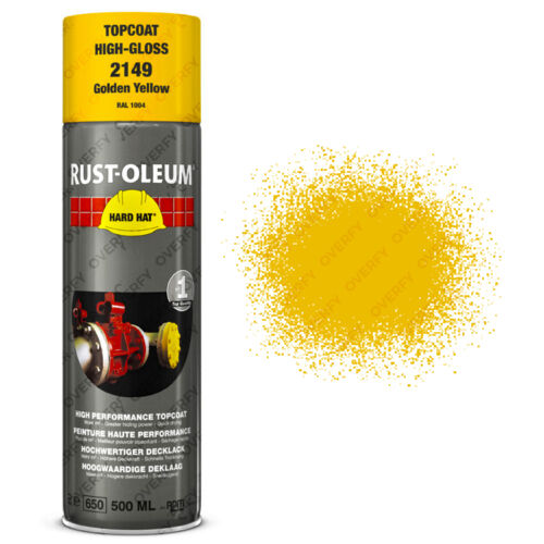 x10 Industrial RustOleum Golden Yellow Spray Paint Hard Hat 500ml RAL 1004