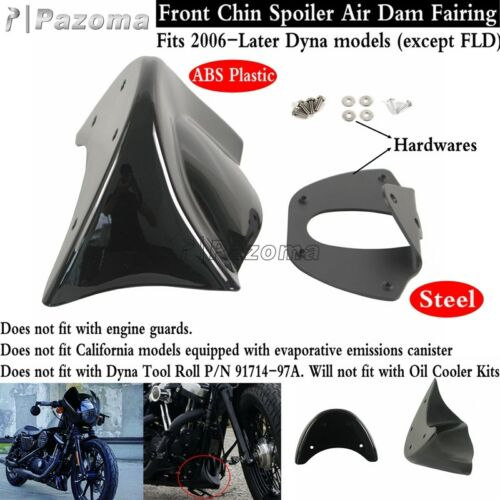 Front Chin Spoiler Air Dam Fairing Set Fits Harley Dyna FXDL FXDWG 2006-Later
