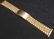 New ROWI Made in Germany 22mm Bracelet 2 Tone President Oyster Watch Band $31.95