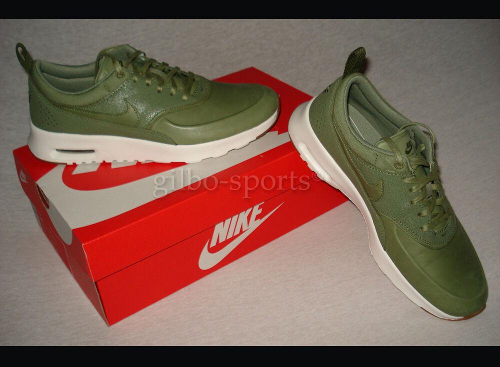 Nike Air Max Thea premium wmns Palm Green verde oliva cuero genuino 36 37 38 39 616723 305