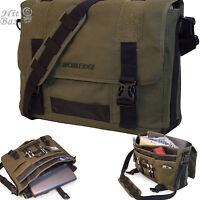 Laptop Canvas Messenger Bag 17.3 Inch Sholder Computer Eco-friendly Backpack
