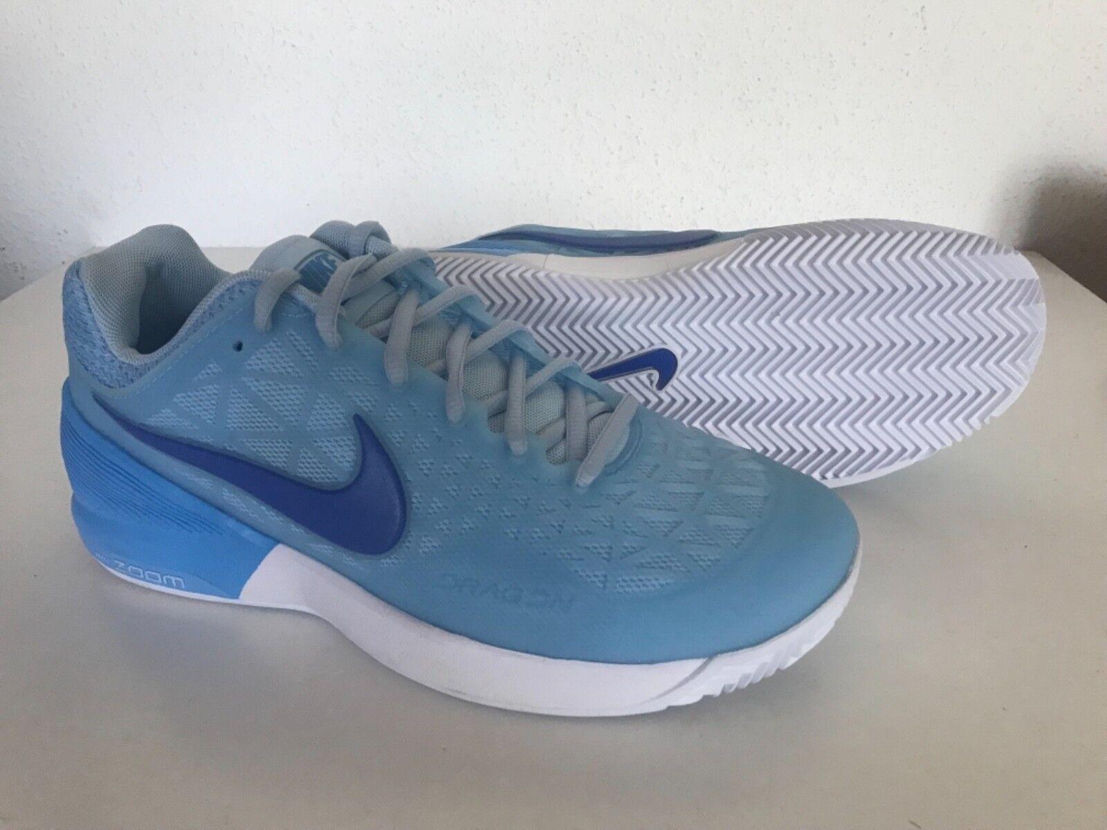 Nuevo NIKE ZOOM CAGE 2 UE Arcilla Para mujeres Tenis Zapatos EE. UU. 8 Azul Hielo 844963-402
