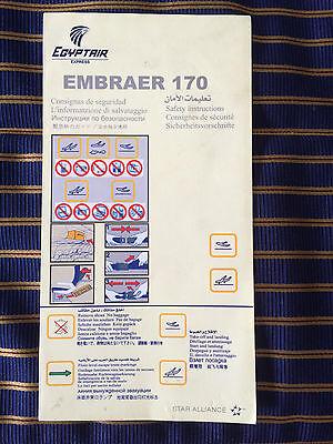 Embraer 170 safety card