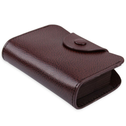 Genuine Leather Wallet Blocking Credit Card Case Package Bag Holder Zip Purse