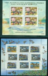 FOREIGN DUCK STAMPS- MINI SHEET OF 9- SHEETLET OF 4- & 6 SINGLES FROM 1990'S DJTmXYaI-07155610-363272134