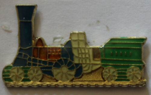 Tall Stack Steam Engine Train with Coal Car Lapel Pin