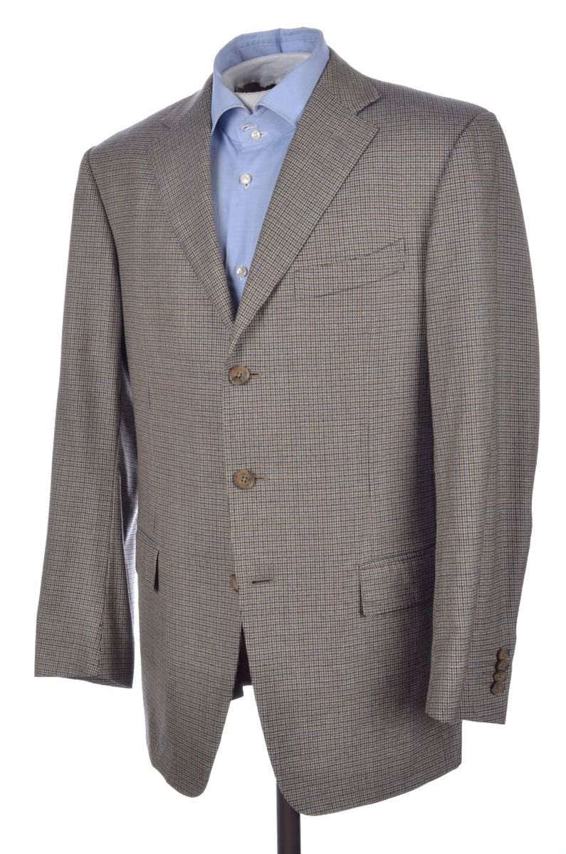 ERMENEGILDO ZEGNA Recent colorful Houndstooth Trofeo Wool Blazer Sport Coat 40 R