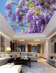 3D purplete Blüten 73 Fototapeten Wandbild Fototapete BildTapete Familie DE Kyra
