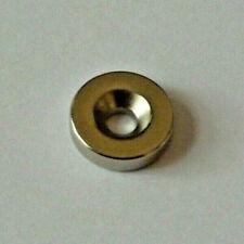 Neodymium Magnets Countersunk 6 Screws M3 10 Pk 12dia X18 Thick4mm Hole
