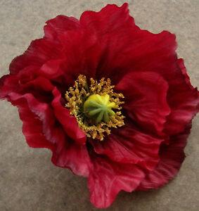 Large 45 red poppy silk flower hair cliparmistice daydance image is loading large 4 5 034 red poppy silk flower mightylinksfo