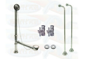 CC2091 CC461 CC44151X Polished Chrome Clawfoot Drain Supply /& Stop Kit