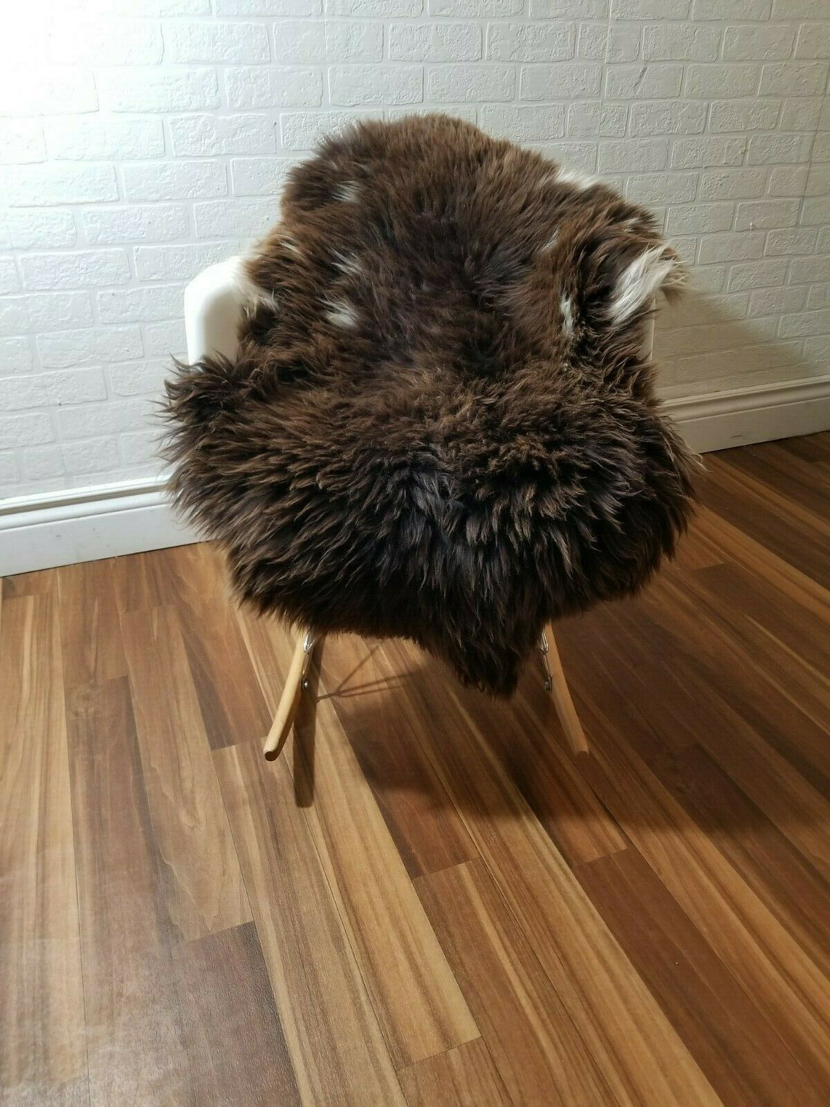 Sheepskin rug Scandinavian soft Dense wool rare Farbe 100% natural  458