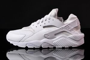 low priced 43009 b4692 Image is loading Nike-Air-Huarache-Triple-White-Pure-Platinum-QS-