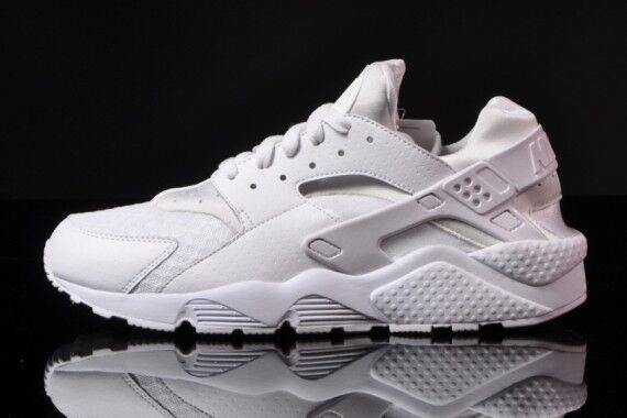 8aac524c84641 Nike Air Huarache Triple White Pure Platinum QS 318429-111 Men & Youth GS  size