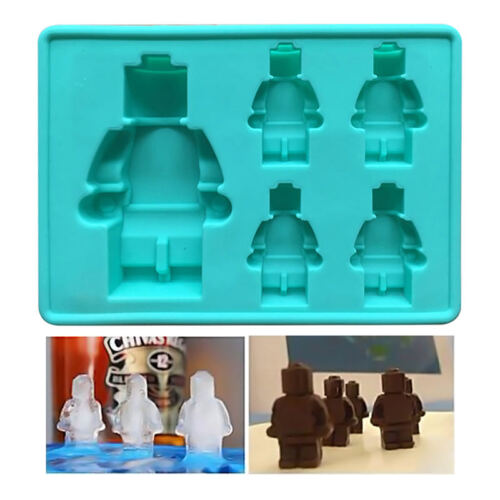 5//8Cups Robot Silicone Mould   Sugarcraft Jelly Chocolate Mold Ice Tray Cube