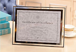 grade frame crystal glass a4 photo diploma certificate document