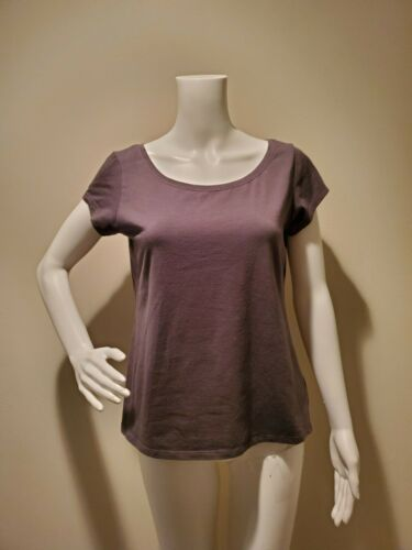 Eileen Fisher Gray Organic Cotton T-Shirt M