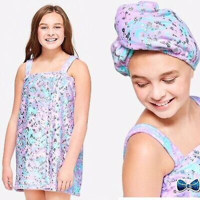 Justice Girls Splatter Spa Wrap New With Tags