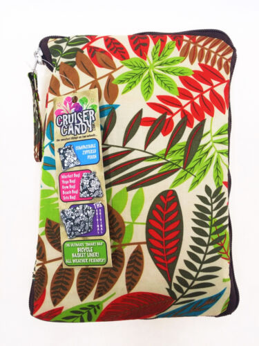 Wild Tropical Cruiser Candy Reversible Bicycle Basket Liner