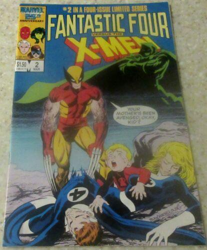 1987 33/% off Guide! NM- 9.2 Fantastic Four vs the X-Men #2
