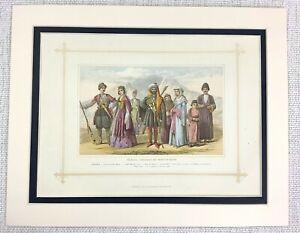1882-Antico-Stampa-Tradizionale-Georgiano-Caucuses-Armeno-Abito-Costume-Moda