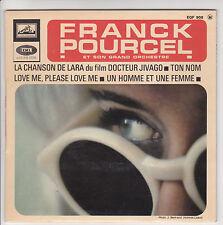"""Franck POURCEL 45T 7"""" EP CHANSON DE LARA Docteur Jivago UN HOMME ET FEMME Films"""