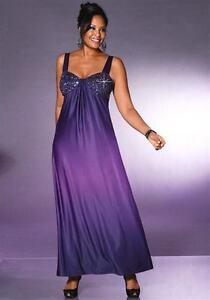Neu Abendkleid Mit Pailletten Bestickt Lila Farbverlauf 42 44 46 M I M 794975 Ebay