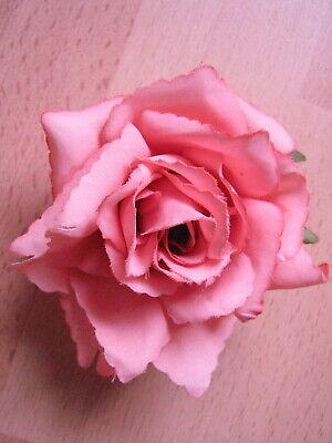 Krokodilspange Rose schwarz  glänzend Neu Haarspange mit Blüte