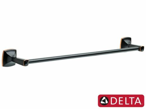 """Delta Ely Collection Oil Rubbed Bronze Bathroom Accessories 18/""""  Towel Bar"""