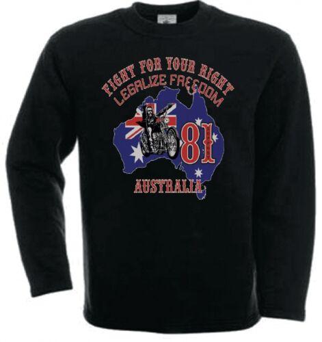 49 Hells Angels Australia BHC Support81 sweatshirt black Big House Crew