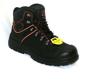 Botas Para Hombre Seguridad GROUNDWORK S1P Impermeable Puntera De Acero Zapatos de Trabajo Entrenadores Talla