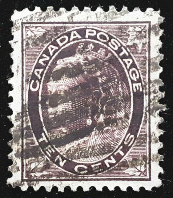 Canada Stamp 1897-98 10c Queen Victoria Scott # 73 SG149 Used