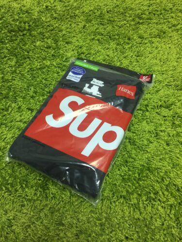 Supreme F//W 2015  Hanes Tagless T-Shirt Tee Pack of 3 Box Logo Black Small S//P