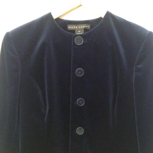 Ralph Royal Blue Velvet Dames Black Jacket 10 Lauren Coat Cotton Carrière Label c5R3j4LqAS