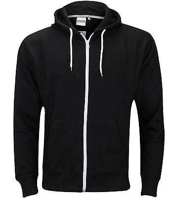 Mens Boys Hoody Sweatshirt Plain American Hooded Fleece Zip Up Jacket Zipper Top