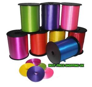 30M 50M 100M Wedding Xmas PICK COLOURS Balloon CURLING Tie Ribbon Roll of 5mm