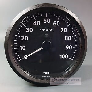 VDO-VIEWLINE-ELEKTR-DREHZAHLMESSER-10000-UPM-110-mm-TACHOMETER-12-24V