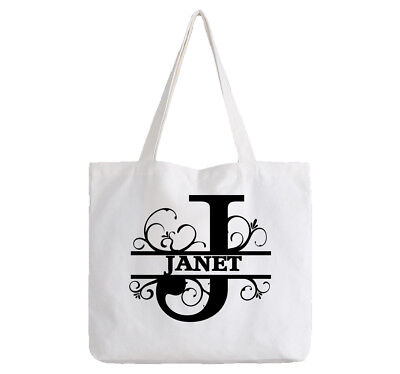 Janet Ladies Personalised Shopping Bag Tote can amend to ANY NAME Shopper