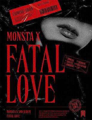 MONSTA X Fatal Love 3rd Album 4 Version Set CD+120p PhotoBook+1p Sticker+1p PhotoCard+Message PhotoCard Set+Tracking Kpop Sealed