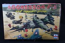 YA013 ESCI 1/48 maquette avion 4079 Aggressor F-5 and support group staff piste